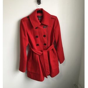 Moda International Red Pea Coat
